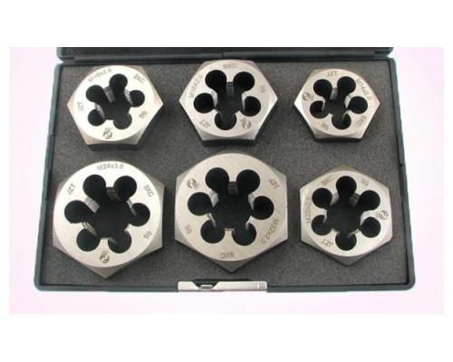 Набор шестигранных плашек М14-М24 9ХС (6 предметов)